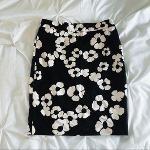 NWOT LOFT Floral Pencil Skirt
